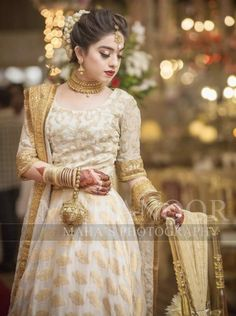 Brides sister ( this would be a good nikkah dress for the brides sister ) Pakistani Fashion Party Wear, Pakistani Dresses Casual, Pakistani Wedding Outfits, Pakistani Dress Design, Pakistani Wedding Dresses, Bridal Outfits, Pakistani Bride Hairstyle, Bridal Mehndi Dresses, Nikkah Dress