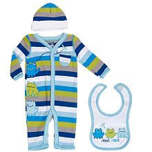 Babies R Us Boys' 3 Piece Coverall Set