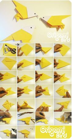 Origami bird: