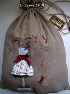 Made by Ana Lopes of Ana Love Craft: SACO DE COSTURA - SEWING BAG really nice!!