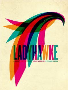 Lady Hawk Poster - by Aaron Gresham #poster #design #aarongresham #ladyhawk