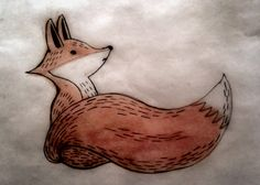 Fox drawing for our next design.