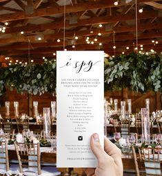 I Spy-I Spy Wedding Game-Hashtag Game-I Spy Hashtag-Templett-Wedding Game-Party Game-Photo Hunt-I Spy Wedding-Reception - wedding details Rustic Wedding, Our Wedding, Dream Wedding, Spring Wedding, Sydney Wedding, Wedding At Home, Perfect Wedding, Wedding Party List, Wedding After Party
