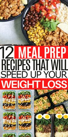 These delicious meal prep lunch ideas for weight loss will help you diet without feeling restricted. Easy Healthy Meal Prep, Healthy Salad Recipes, Clean Eating Recipes, Healthy Cooking, Healthy Eating, Healthy Food, Meal Prep Plans, Diet Meal Plans, Lunch Meal Prep