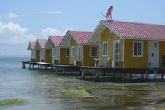 El Faro del Colibri Acqua Lodge. Overwater cabanas on Isla Carenero, Bocas del Toro, Panama.