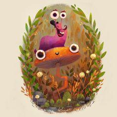 Slug buddy by Azbeen illustration