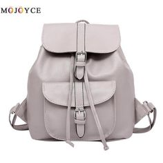 Women Casual PU Leather Backpack Preppy Chic Backpack Drawstring Travel Shcool Bag For Teenage Girls Small Backpacks Mochila New Cool Backpacks For Girls, Backpacks For College Girl, Trendy Backpacks, Girl Backpacks, Leather Backpacks, School Backpacks, Backpack For Teens, Small Backpack, Black Backpack