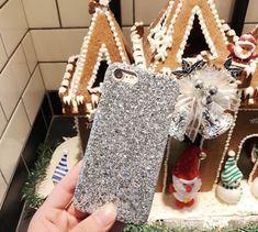 Blingmeister iPhone X Glitzerhülle silber