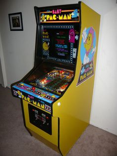 Baby Pacman cabinet... Was one of many many games paraded thru the Santa fe Springs 7/11 when I was a kid.. it was hard