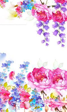 New Flowers Wallpaper Aquarell Ideas Flower Backgrounds, Flower Wallpaper, Wallpaper Backgrounds, Iphone Wallpaper, Cellphone Wallpaper, Art Floral, Watercolor Flowers, Watercolor Paintings, Watercolors