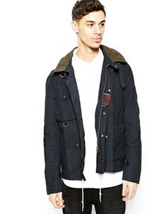 Barbour Amphibian Jacket with Hood in Slim fit — $318 at Asos