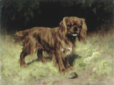 Arthur Wardle - A Ruby King Charles Spaniel