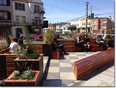 New parklet opens outside Simple Pleasures on outer Balboa | Richmond District Blog