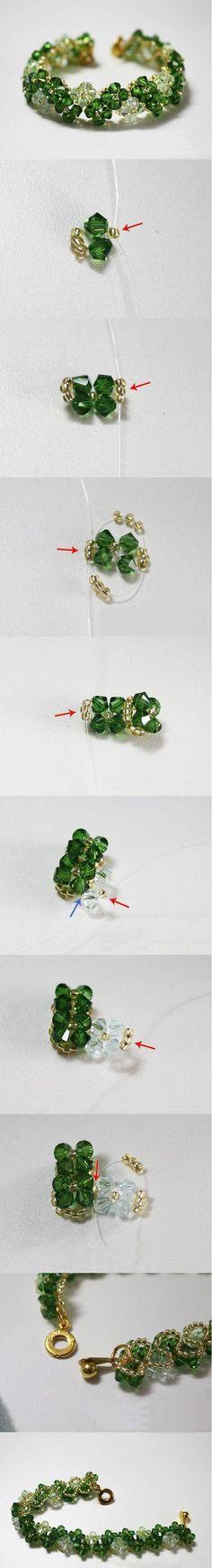pulsera de vidrio facetado