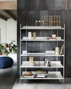 Compile shelving system by Cecilie Manz for Muuto. Photography courtesy of Muuto. Muuto, Decor, Interior Design, Furniture, Home, Shelving Systems, Shelving, Scandinavian Shelves, Home Decor