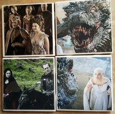 Calling All GOT Fans  Set Of 4 Coasters by WolfMountainJewelry  22.00
