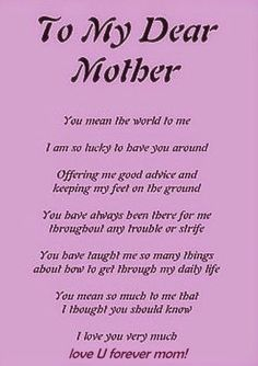 Thank You Mother Quotes : thank, mother, quotes, Happy, Mothers, Thank, Poems,, Quotes,, Images, Ideas, Poems