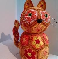 Crocheting : Flower Cat