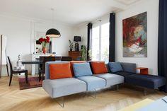 Bright colours and modular design - LAGO Living #lagodesign #livingroom #home #homedecor #interior #design #soggiorno #sofa