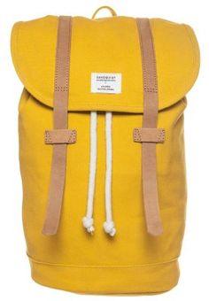 Sandqvist STIG - Rucksack - yellow/cognac brown - so wow!