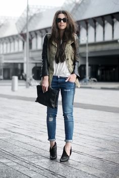 simple and cool + those shoes are major   Refined Style