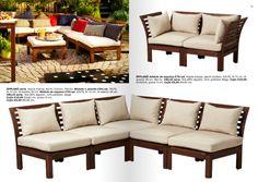 Ikea äpplarö outdoor furniture Ikea Patio, Ikea Outdoor, Outdoor Spaces, Outdoor Decor, Balcony Garden, Outdoor Furniture Sets, Backyard, Kitty, Home Decor