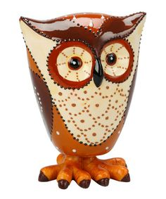 Take a look at this Brown Small Owl Figurine by Transpac Imports on #zulily today!