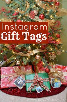 Instagram Gift Tags by SewWoodsy.com #Christmas #Instagram #DIY