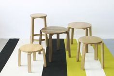 Kantti stools and tables by Deka Design Commercial Interiors, Stools, Dining Chairs, Tables, Furniture, Collection, Design, Home Decor, Benches