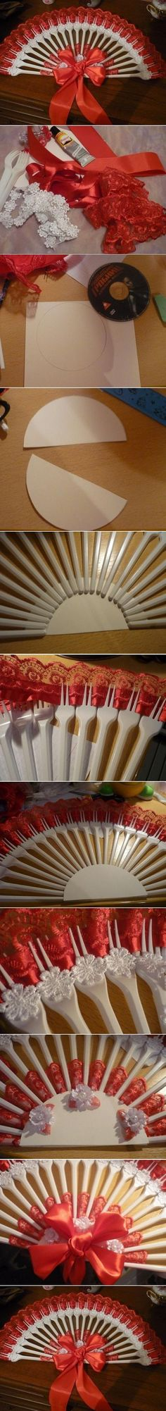 DIY Disposable Fork Fan