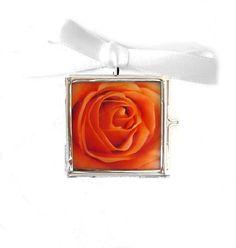 Autumn Jewelry Rose Photo Locket  ORANGE by LovesParisStudio, $18.00
