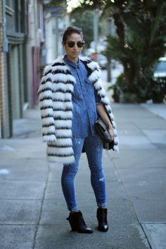 Black & white faux fur on AllergicToVanilla.com.