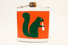 Drunken Squirrel Flask  by jDUCT by jDUCT on Etsy, $22.00  - Bwahahahaha  love it