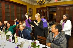 #purpleparty #partyplanning. 10/26/2013 --Project Purple event at Carmines restaurant in Washington, DC