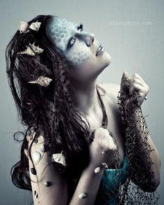 sea creature  #makeup art, sfx makeup