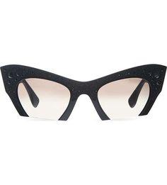 381fc3f4378 MIU MIU MU02Q cat eye sunglasses ( 430) ❤ liked on Polyvore Miu Miu Glasses