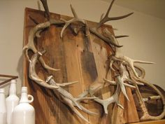 Antler Wreath Tutorial - If the antlers have to be in my house, we might as well be creative.