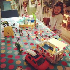 Can you play imagination with me Mummy? ! #playmobil #campsite #christmaspresents