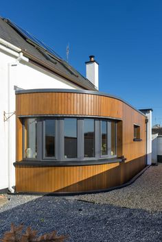 Extension to House Over 100 Years Old in New Ross, Wexford Timber Cladding, House Extensions, Old Houses, The 100, Curves, Shed, Outdoor Structures, The Originals, Building