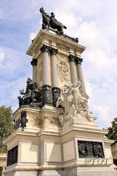 Monument of Alfonso II at Retiro Park, Madrid