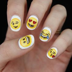 Emoji nail art! So happy with these ones - watch... | Nailed it NZ