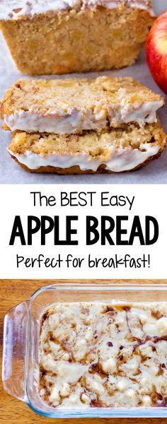 Cinnamon Apple Quick Bread Recipe (Vegan) Apple Crisp Recipes, Quick Bread Recipes, Sweet Recipes, Apple Baking Recipes, Quick Vegan Desserts, Vegetarian Recipes, Healthy Banana Bread, Chocolate Banana Bread, Healthy Breads