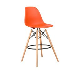 Take iconic mid-century modern design to new heights. Inspired by the classic design aesthetic of our Mid-Century Slope Chair, the Barstool Slope Chair offers stylish modern seating for your counter-he...  Find the Barstool Slope Chair, as seen in the Free Shipping Day: Seating Collection at http://dotandbo.com/collections/free-shipping-day-seating?utm_source=pinterest&utm_medium=organic&db_sku=DBI0010-org