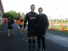 Players Sporting Gijon with the Argentine player lautaro Nazarene of Future Players