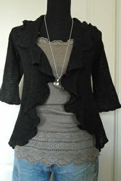 Linen knit, BLACK