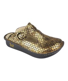Love this Antique Snake Classic Leather Mule by Alegria on #zulily! #zulilyfinds