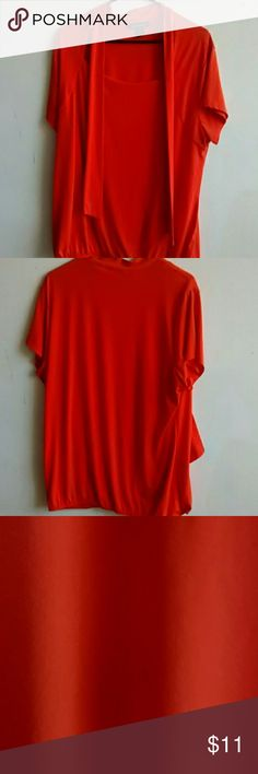 Ashley Stewart Shirt Orange Orange Ashley Stewart shirt. Very stylish & classy. Size 18/20.   92% polyester 8% spandex. In great condition! Thanks for viewing our listing, any questions just ask & we will be happy to help.  -A Daughter & Mother Closet- Ashley Stewart Tops Blouses