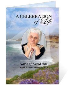 Funeral Memorial Cards or Funeral Bulletins : Hope Spiritual designs ...