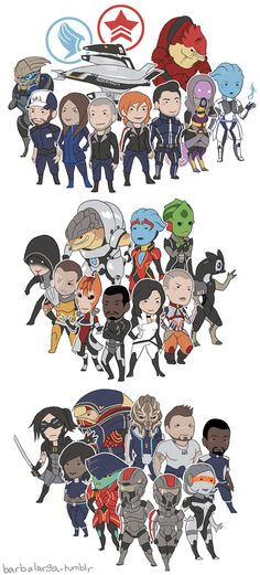mass effect character stickers by edface.deviantart.com on @deviantART I like tht it has both shepsheps