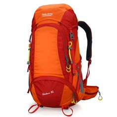 BOLANG Internal Frame Pack Hiking Daypack Outdoor Waterproof Travel  Backpacks 8298 Orange 45l -- To 99c7aaf3ed356